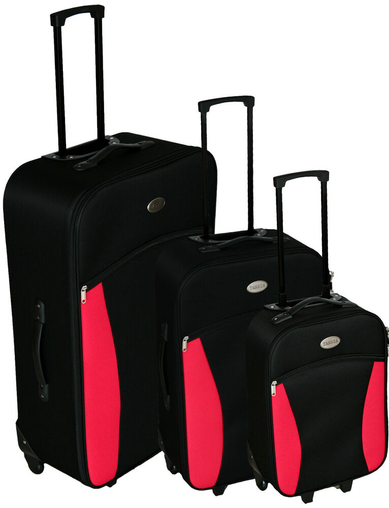 3 Pcs Trolley Set Travel Suitcase Baggage Luggage Light 2 ...
