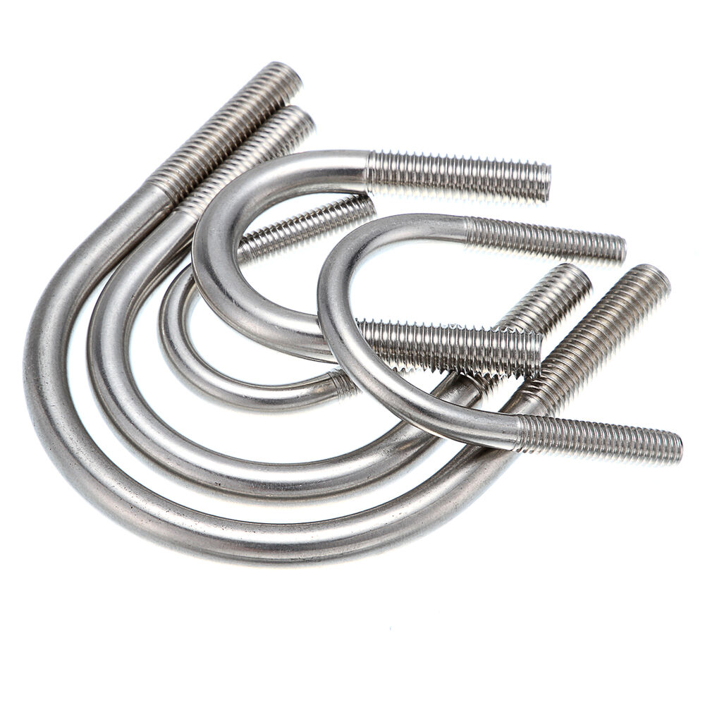 Pcs m stainless steel a u bolts round bend