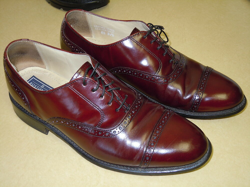 mens quot bostonian quot all leather cordovan wing tip dress