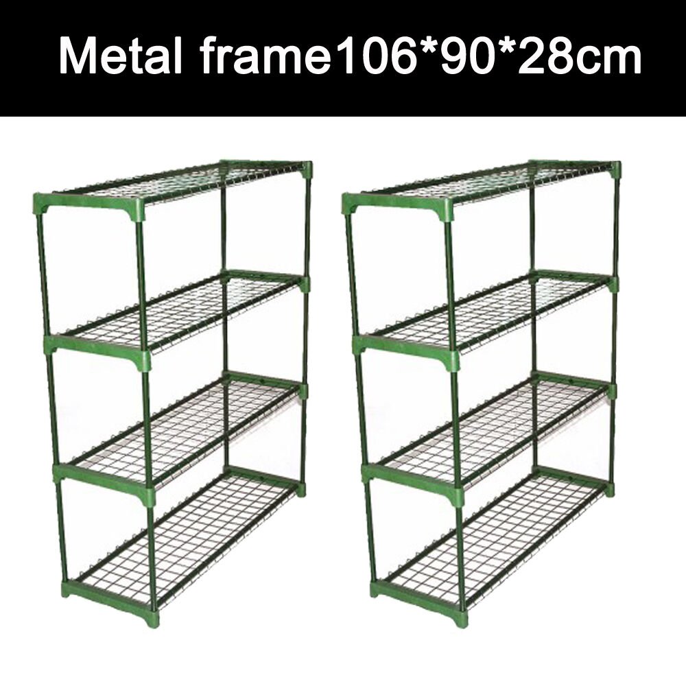 2pcs steel greenhouse shelves 4 tier garden staging for Storage unit plans