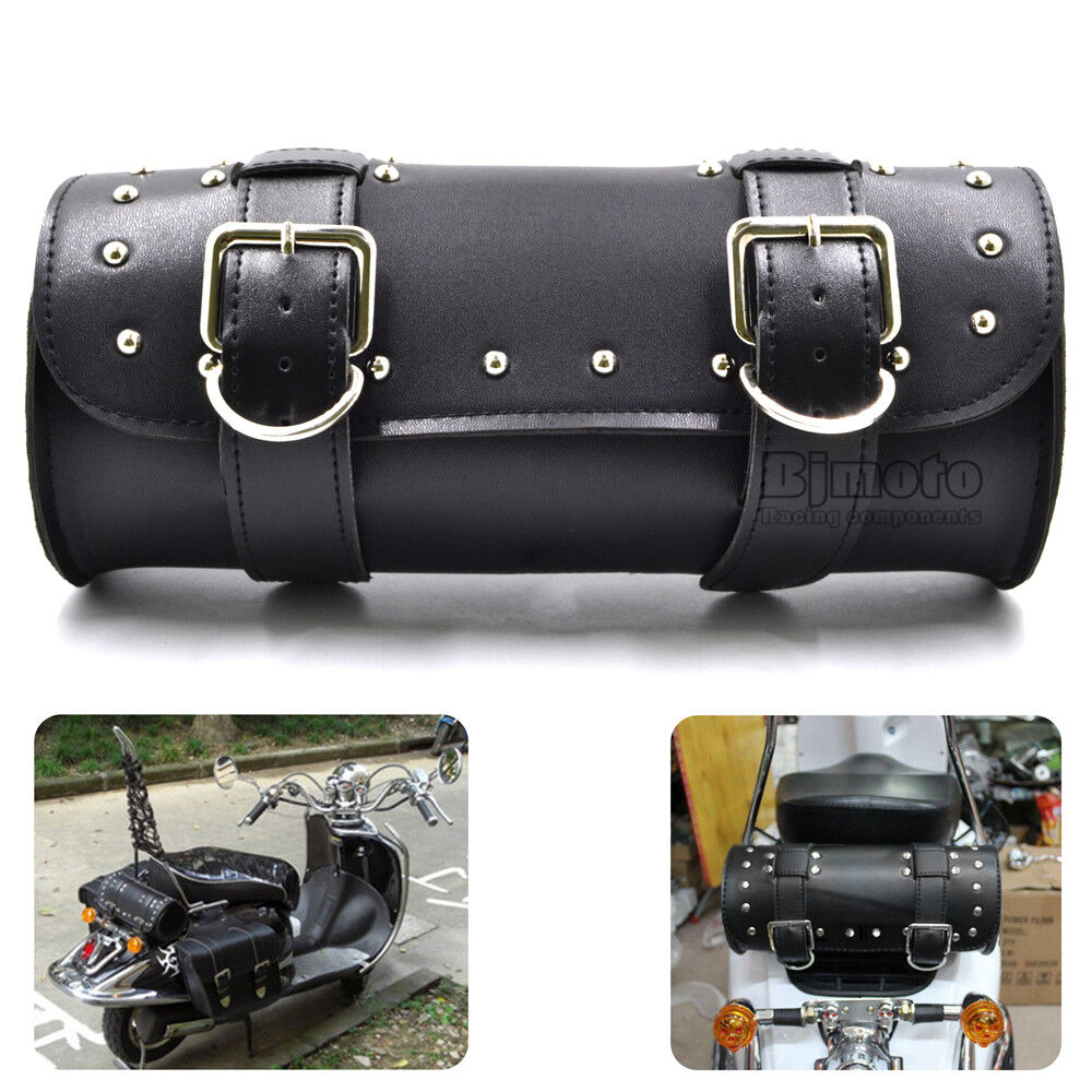 Universal motorcycle saddle bags motorbike side tool tail for Motor cycle saddle bags