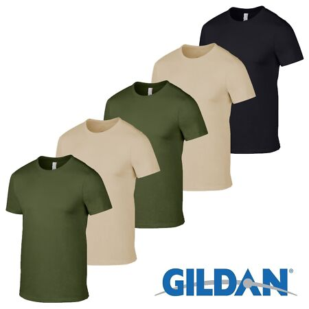 img-5 Pack Mens Military Green British Army Sand Tshirt Camo camouflage Fishing