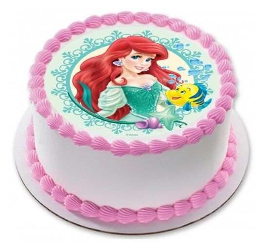 Little Mermaid Ariel Edible Birthday Party Cake Decoration ...