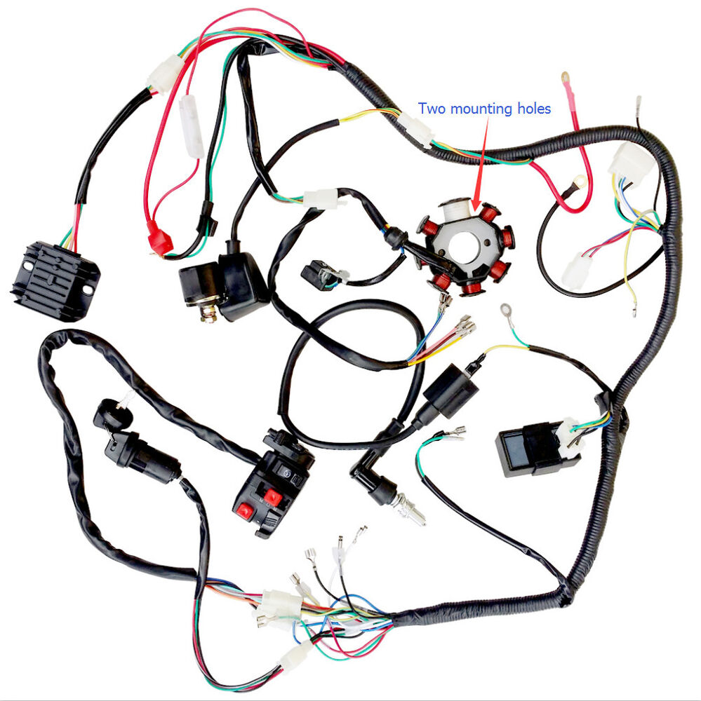 s-l1000 Full Wiring Harness on engine harness, oxygen sensor extension harness, dog harness, obd0 to obd1 conversion harness, maxi-seal harness, suspension harness, pony harness, battery harness, alpine stereo harness, safety harness, amp bypass harness, nakamichi harness, fall protection harness, pet harness, electrical harness, radio harness, cable harness,