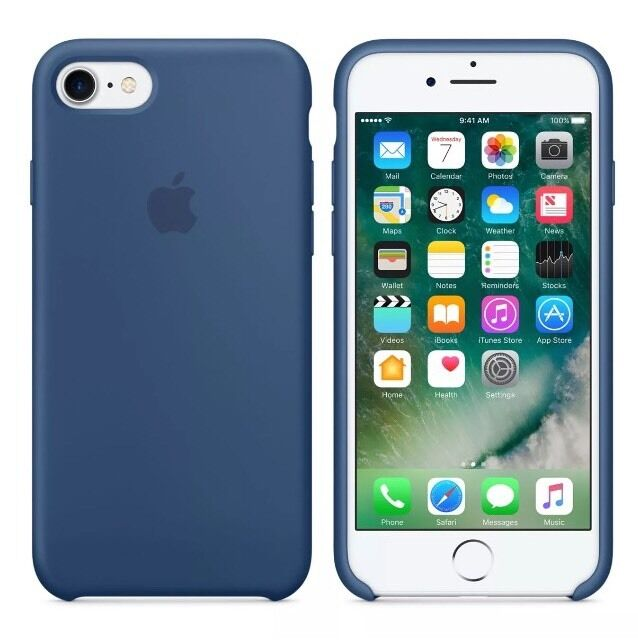 ... BLUE Genuine Original Apple silicon case for iPhone 7 4.7u0026quot; : eBay
