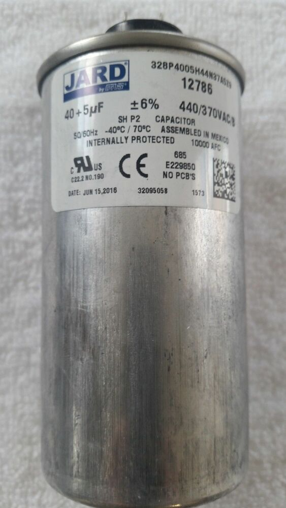 12786 Motor Run Capacitor Jard By Mars 40 5 Mfd 440 370