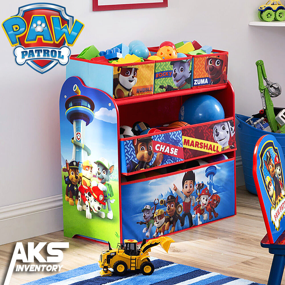 Paw Patrol Toy Organizer Bin Cubby Kids Child Storage Box: PAW Patrol Kids Toy Organizer Bin Children's Storage Box