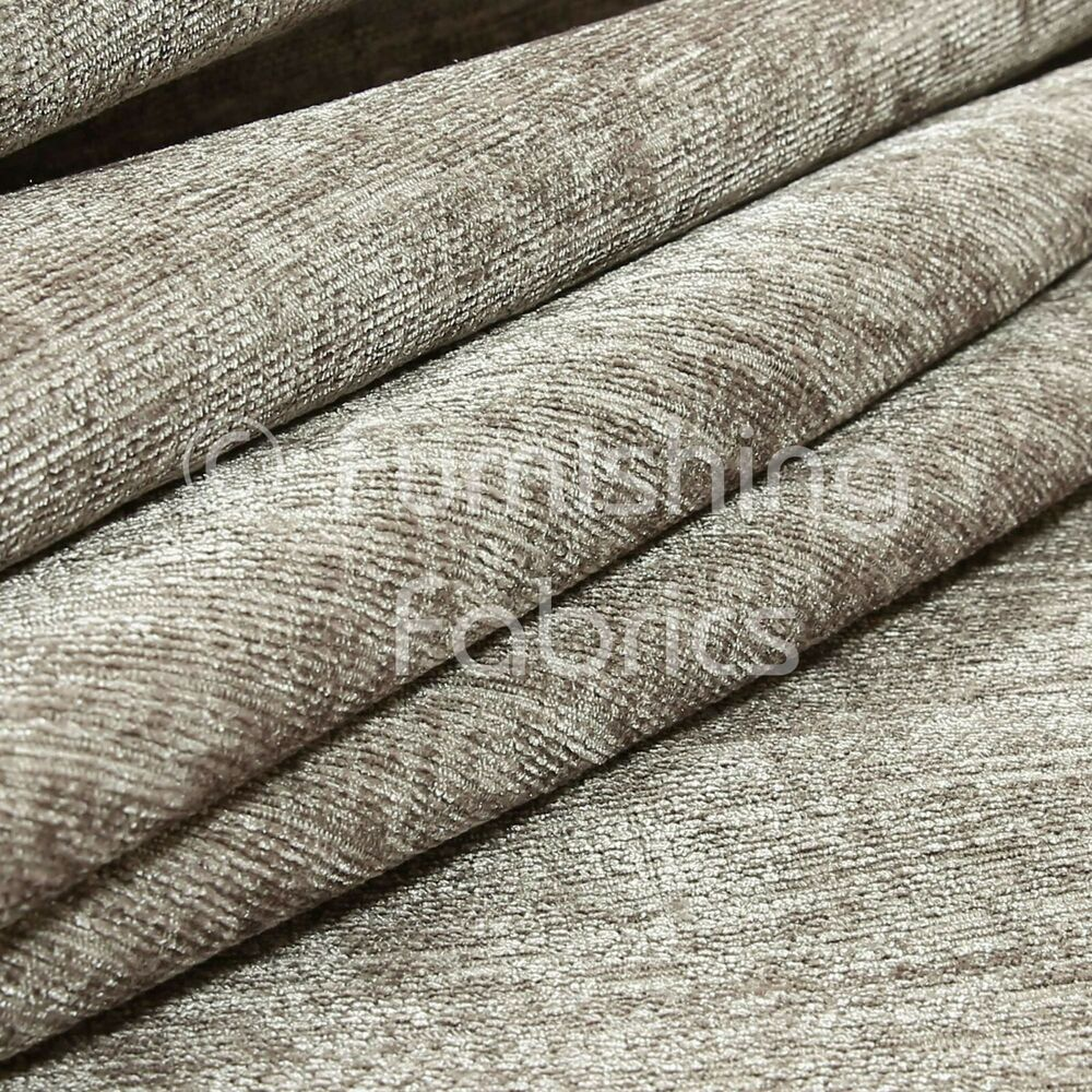 10 metres of shimmer shine curtain sofa upholstery chenille fabric silver colour 7625634369663. Black Bedroom Furniture Sets. Home Design Ideas