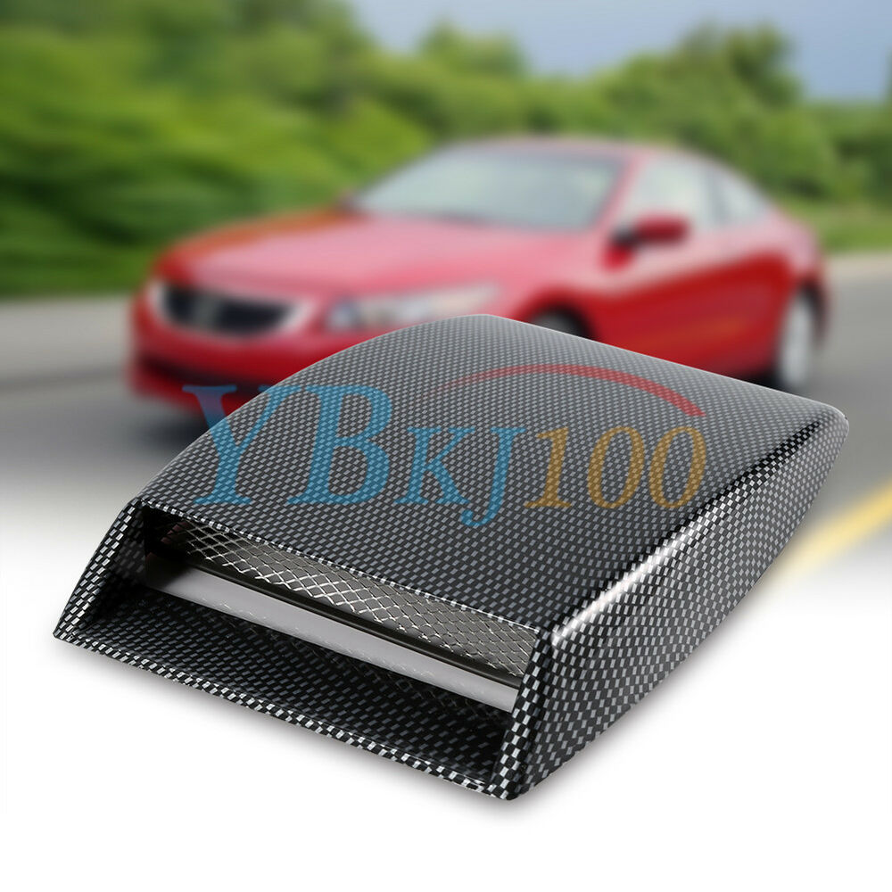 Induction Air Cleaner Hood : Cool car decorative air flow intake scoop carbon fiber