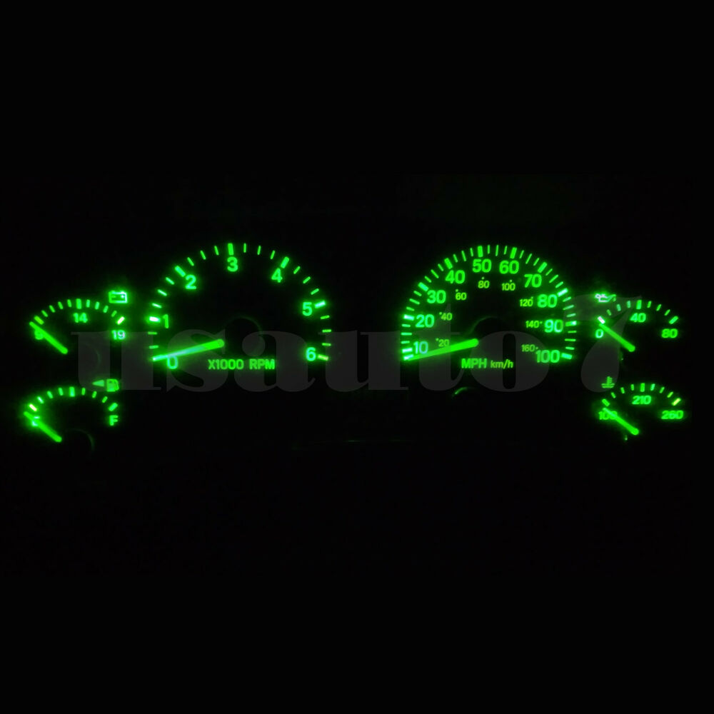 Dash Instrument Cluster Gauge Green SMD LED LIGHT KIT Fit 97-01 Jeep Cherokee XJ | eBay
