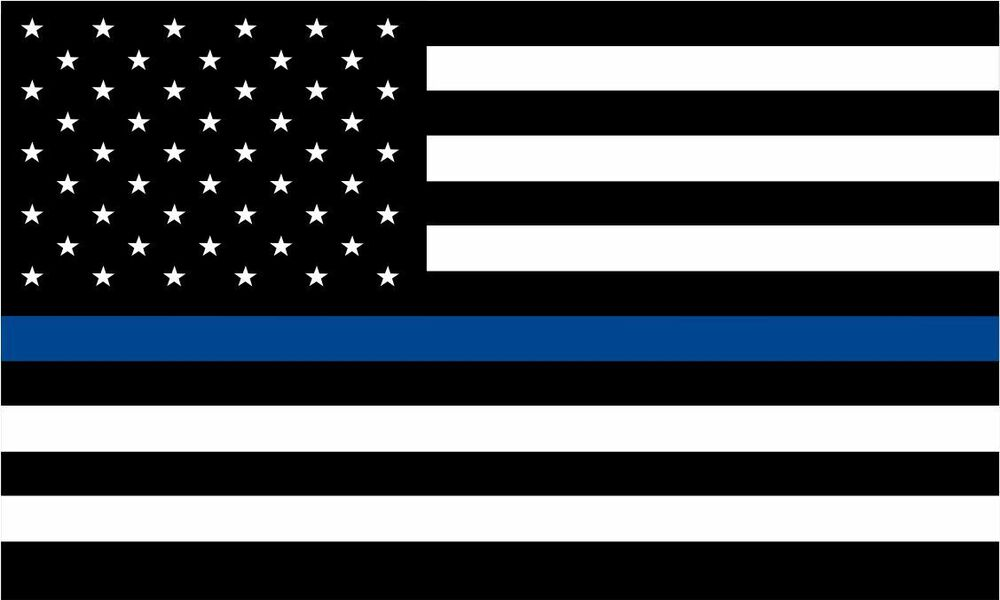 Thin Blue Line Decal American Flag Reflective Free Ship Various Sizes Ebay