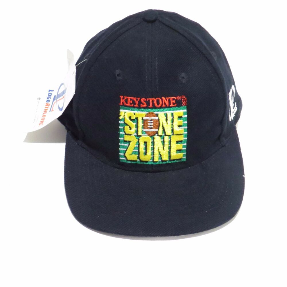 Details about NWT VTG Keystone Stone Zone Logo Athletic Collectible  SnapBack Black Hat Cap 5fc76f7c4