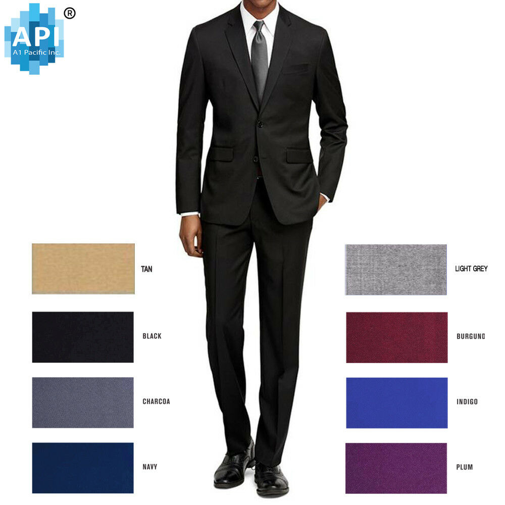 New Men S Formal Slim Fit 2 Piece Suit Two Button Solid