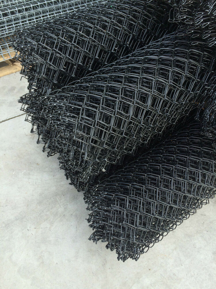 Arc Black Pvc Coated Chain Link Wire Mesh Fence 1800mm High 10m Long Ebay
