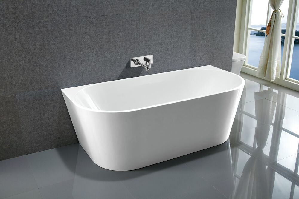 Bathroom Acrylic Free Standing Bath Tub 1300x700x580 Freestanding Back