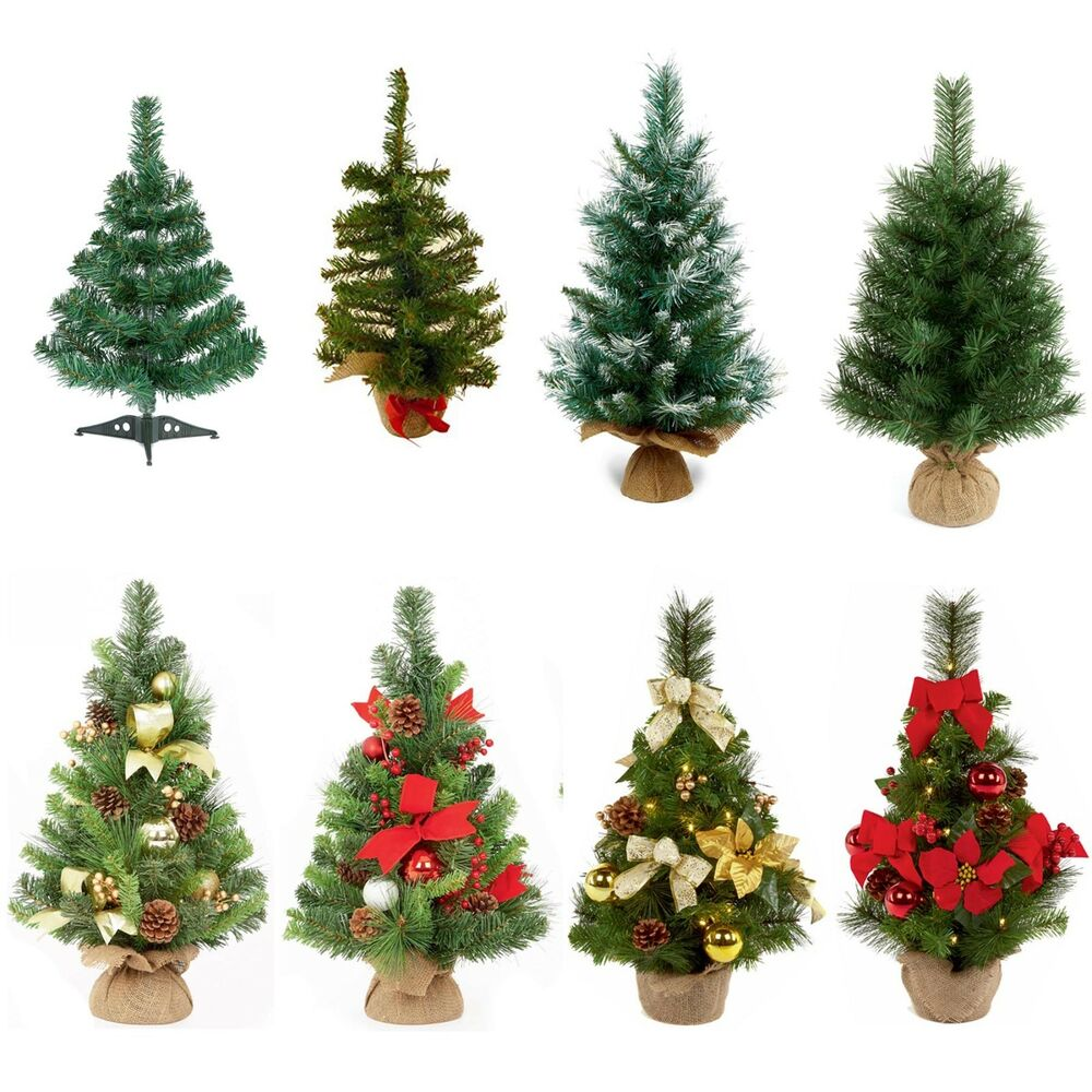Chistmas Trees: 45-60cm Table Top Plain Or Dressed Christmas Tree Indoor