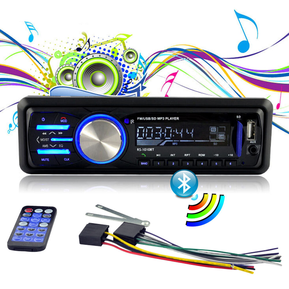 12V FM Bluetooth Car Radio Auto Audio Stereo AUX USB SD