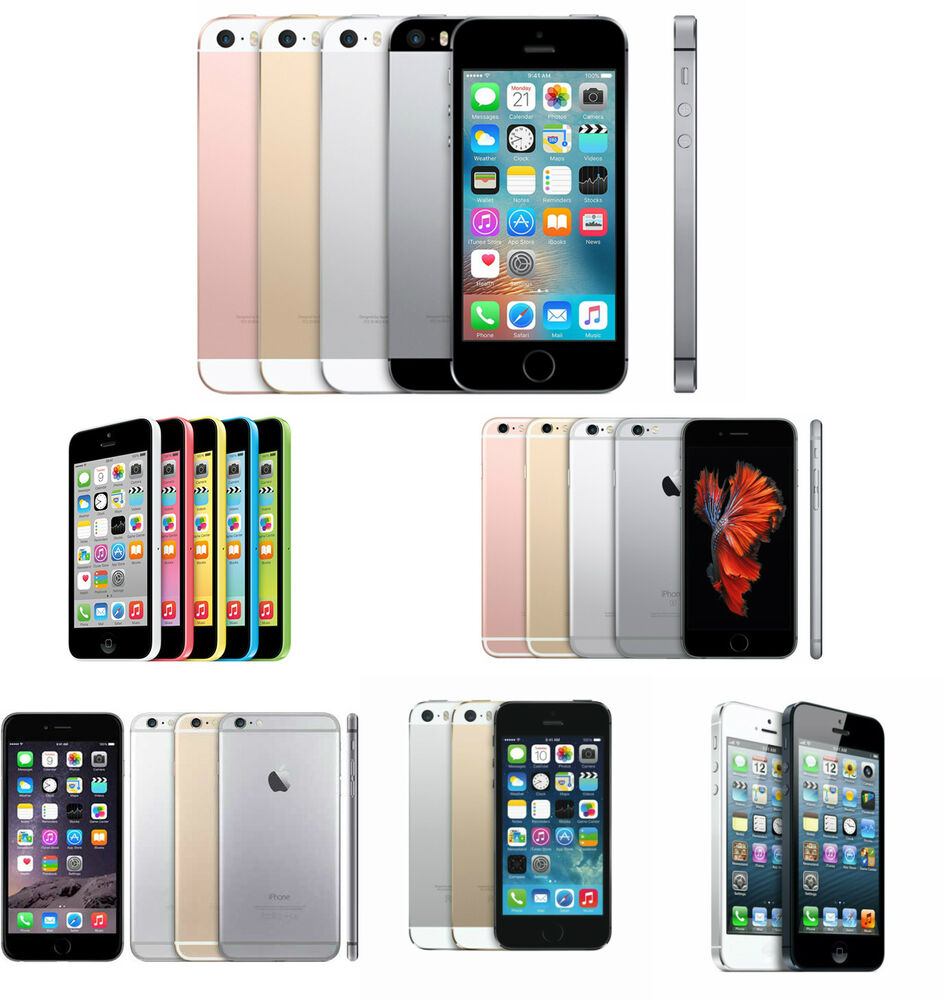 apple iphone 5 5c 5s se 6 6 plus 4g lte ios gsm factory unlocked smartphone ebay. Black Bedroom Furniture Sets. Home Design Ideas