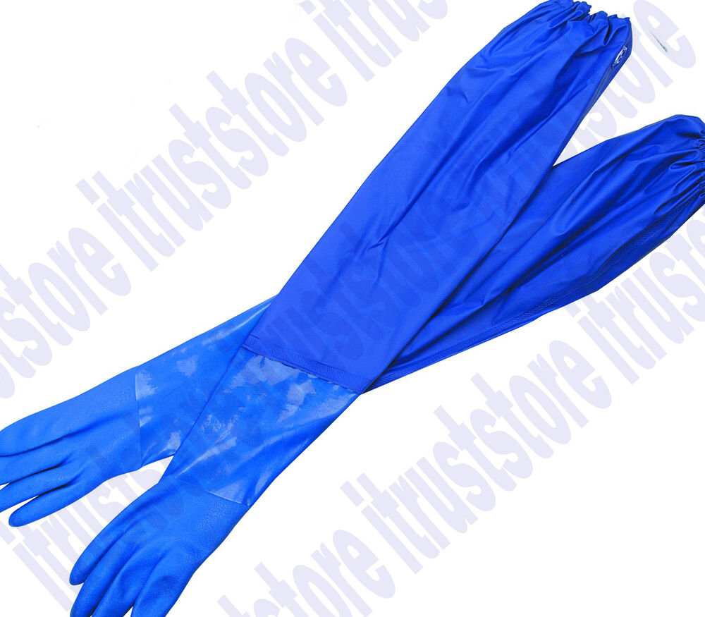Extra Long Cuff Arm Protection Plastic Work Gloves Oil