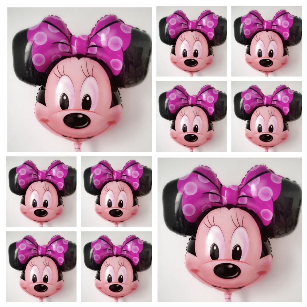 Set of minnie mouse balloon birthday party baby shower 27 for Baby minnie mouse party decoration