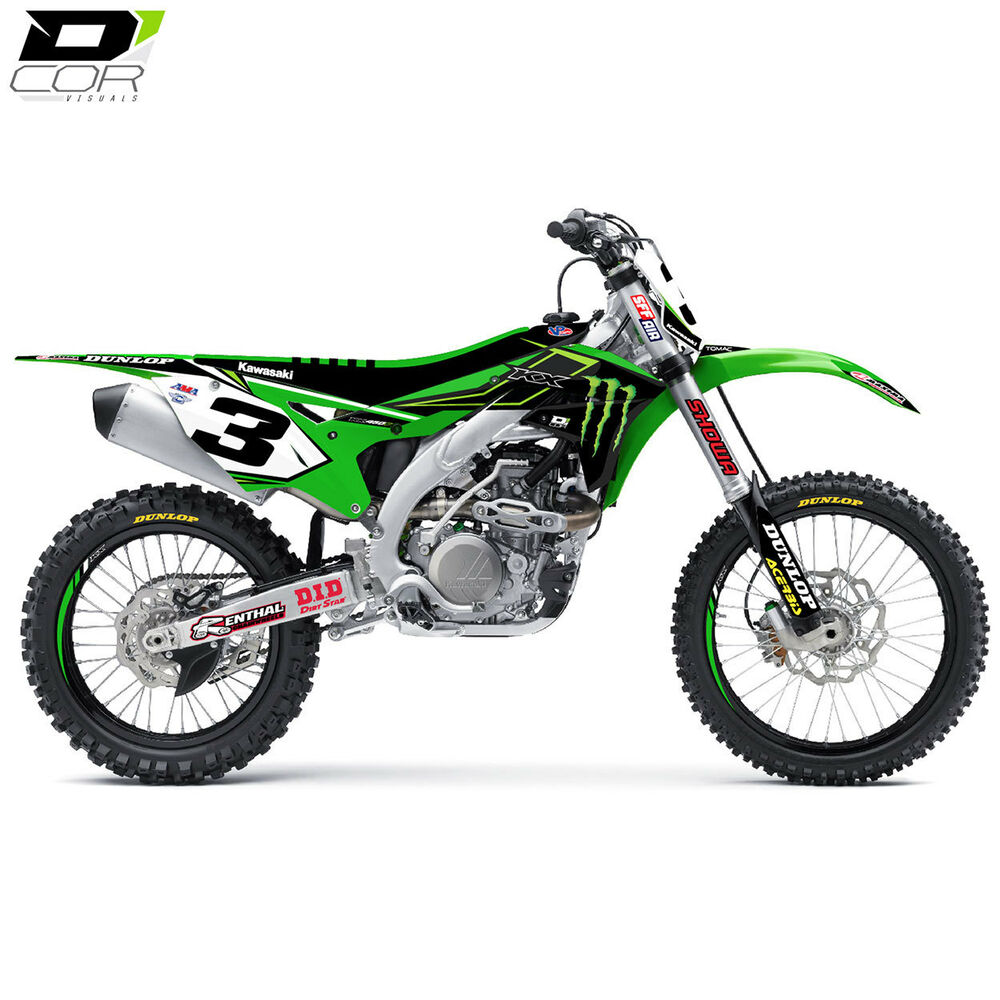 D Cor 2016 Team Monster Energy Graphics Kit For Kawasaki ...