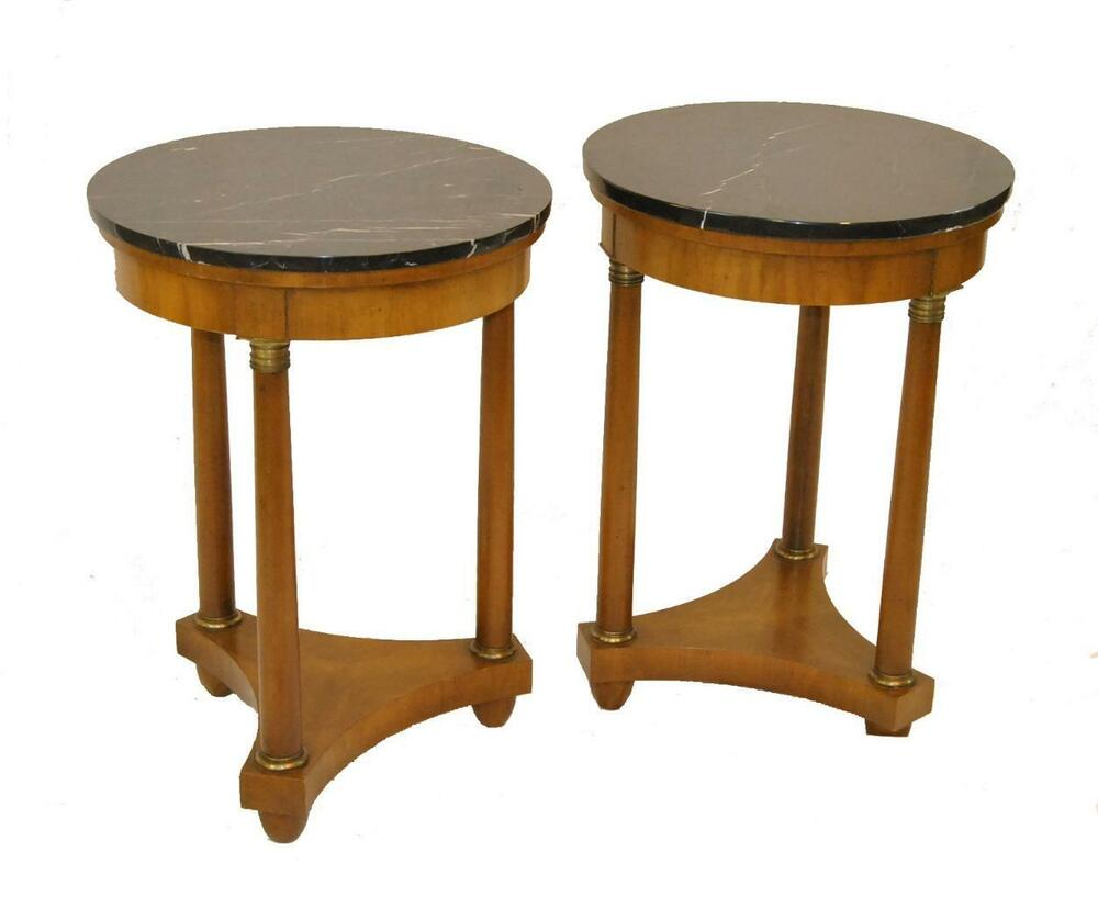 Empire Style Round Marble Top Tables by Baker Furniture eBay : s l1000 from www.ebay.com size 1000 x 817 jpeg 42kB