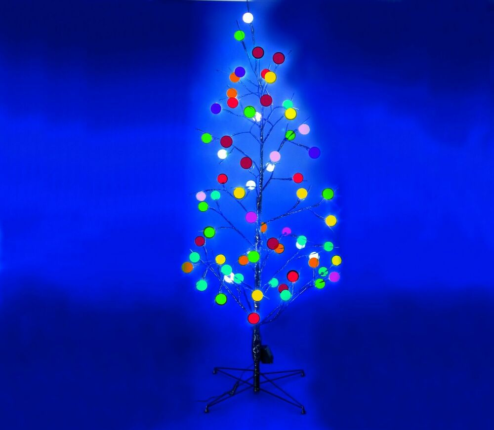 6ft White Fibre Optic Christmas Tree