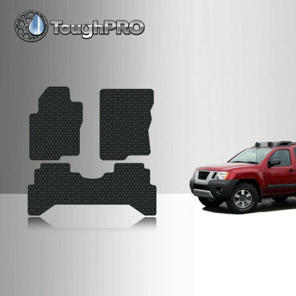 Toughpro heavy duty black rubber custom for 2005 2015 nissan xterra floor mats ebay for Nissan xterra interior accessories