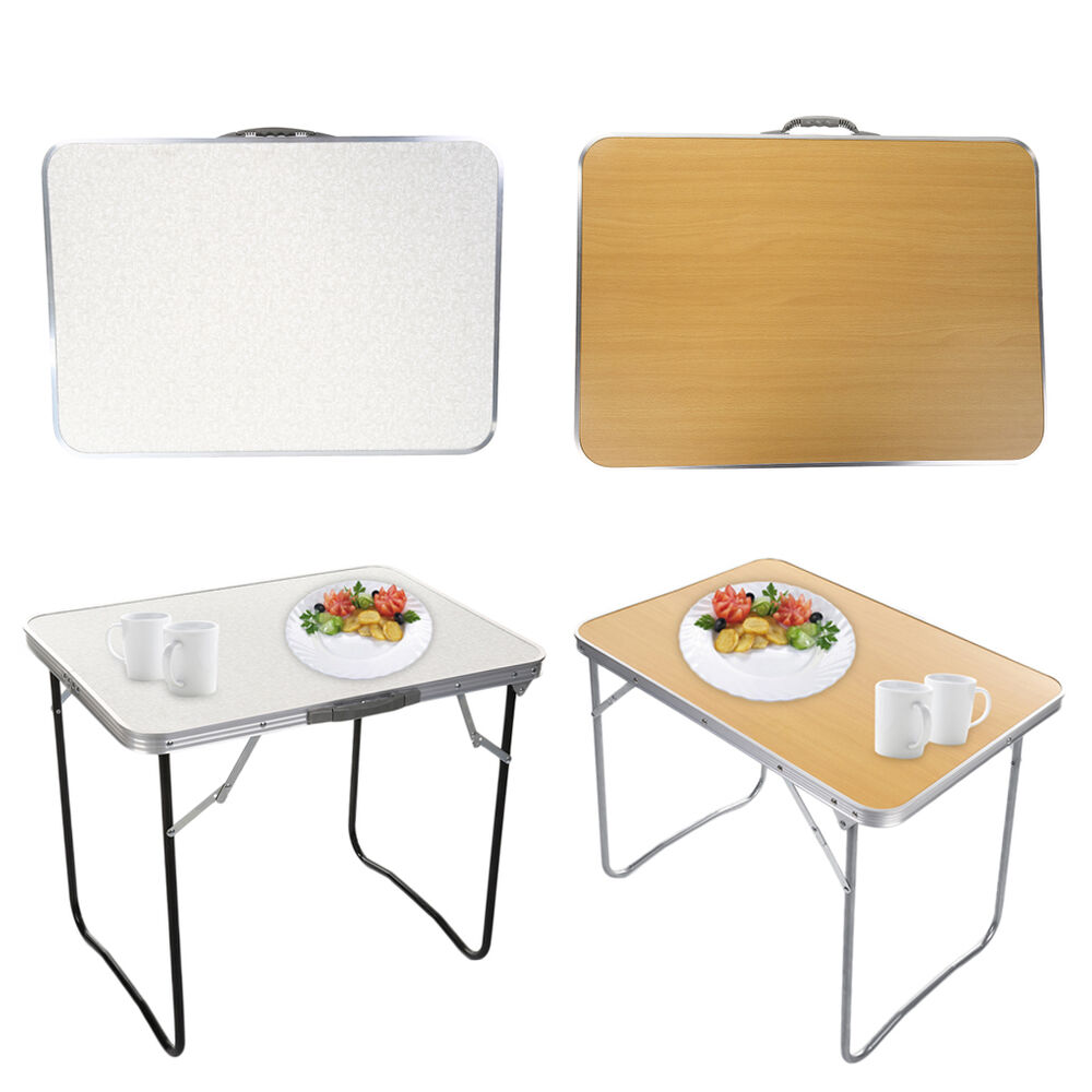 new portable folding aluminum table outdoor picnic party camping desk ebay. Black Bedroom Furniture Sets. Home Design Ideas