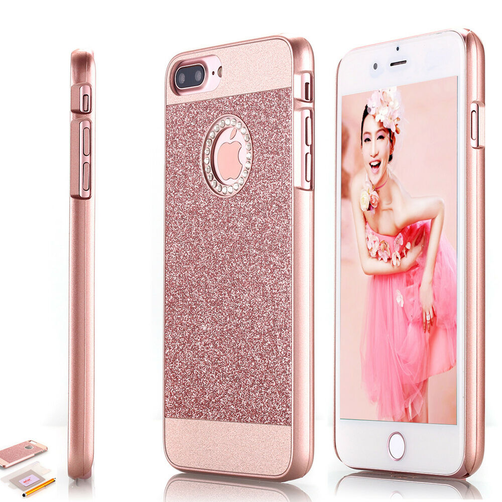 for apple iphone 7 plus diamond bling hard case cover rose gold ebay. Black Bedroom Furniture Sets. Home Design Ideas