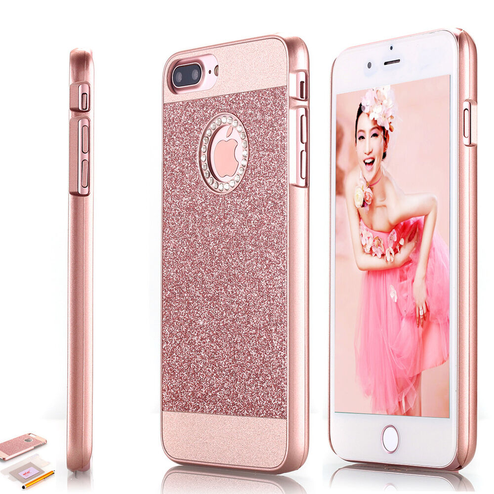 rose gold iphone case for apple iphone 7 plus bling cover 16038