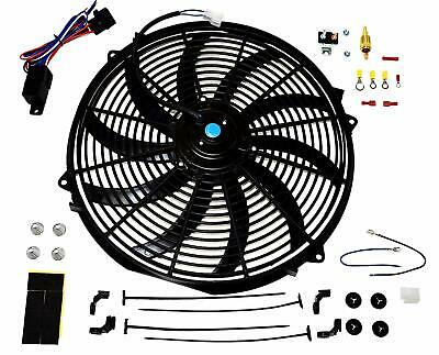 16 inch Electric Radiator Cooling Fan 12v 3000cfm Relay Thermostat Kit