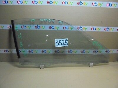 94 95 96 97 98 99 00 01 Integra 2 Door FRONT PASSENGER Door Glass Used #3525-V