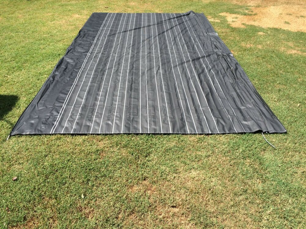 A&E RV Camper Replacement Awning Fabric 17 ft. Dark Grey ...