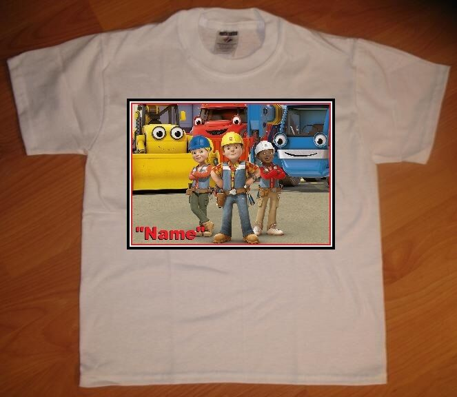 New bob the builder custom personaliz e birthday party for Custom t shirts personalized gifts