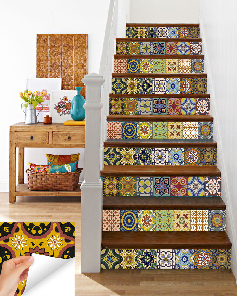 kitchen wall tile stickers stairs tile decals wall stickers kitchen decals diy home 6449