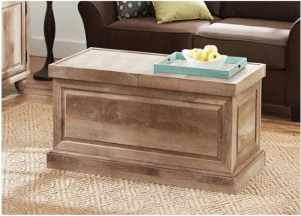 coffee table storage wood trunk furniture living room weathered rustic reclaimed ebay. Black Bedroom Furniture Sets. Home Design Ideas