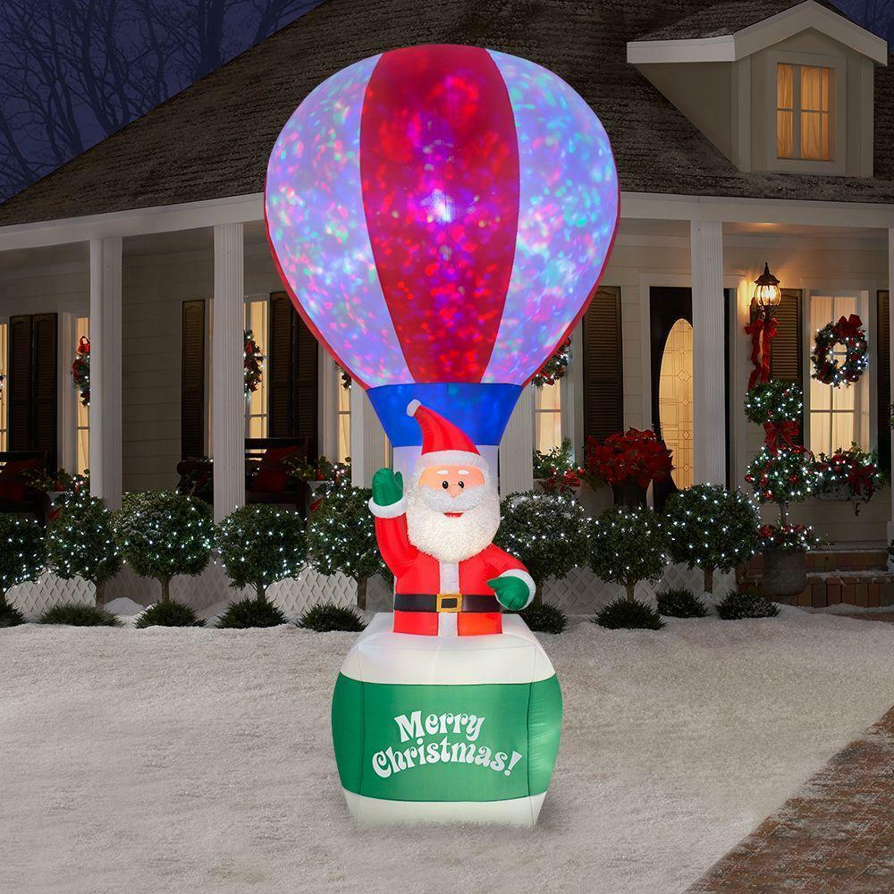 Ft christmas santa hot air balloon airblown inflatable