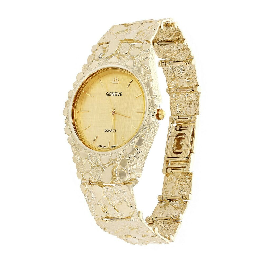 newsolid geneve 10k yellow gold 7 5 quot nugget
