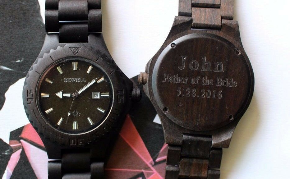 Watch As Wedding Gift: Personalized Engraved Wooden Watch Wedding & Groomsmen