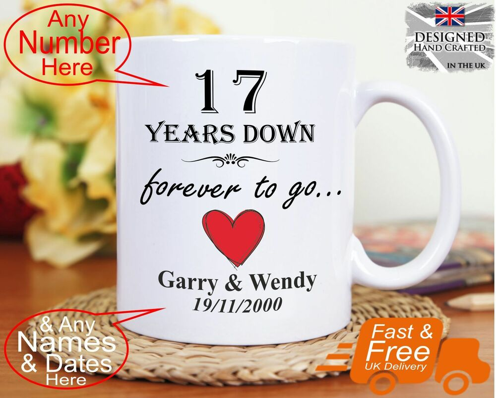Gift For 13th Wedding Anniversary: 17th Wedding Anniversary Gift 17 Years Marriage, Any Dates