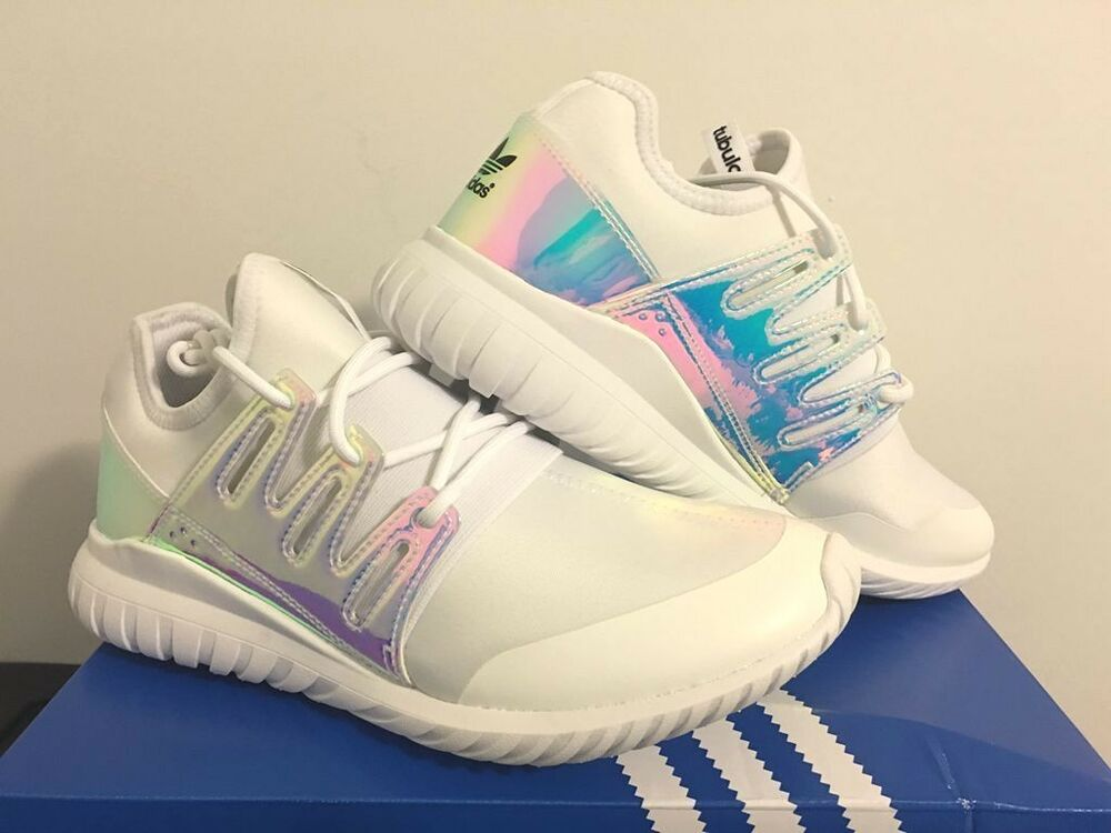 Adidas Shoes White Iridescent