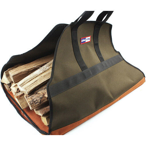 Firewood Carrier Bag Log Fire Wood Tote Canvas Carrying