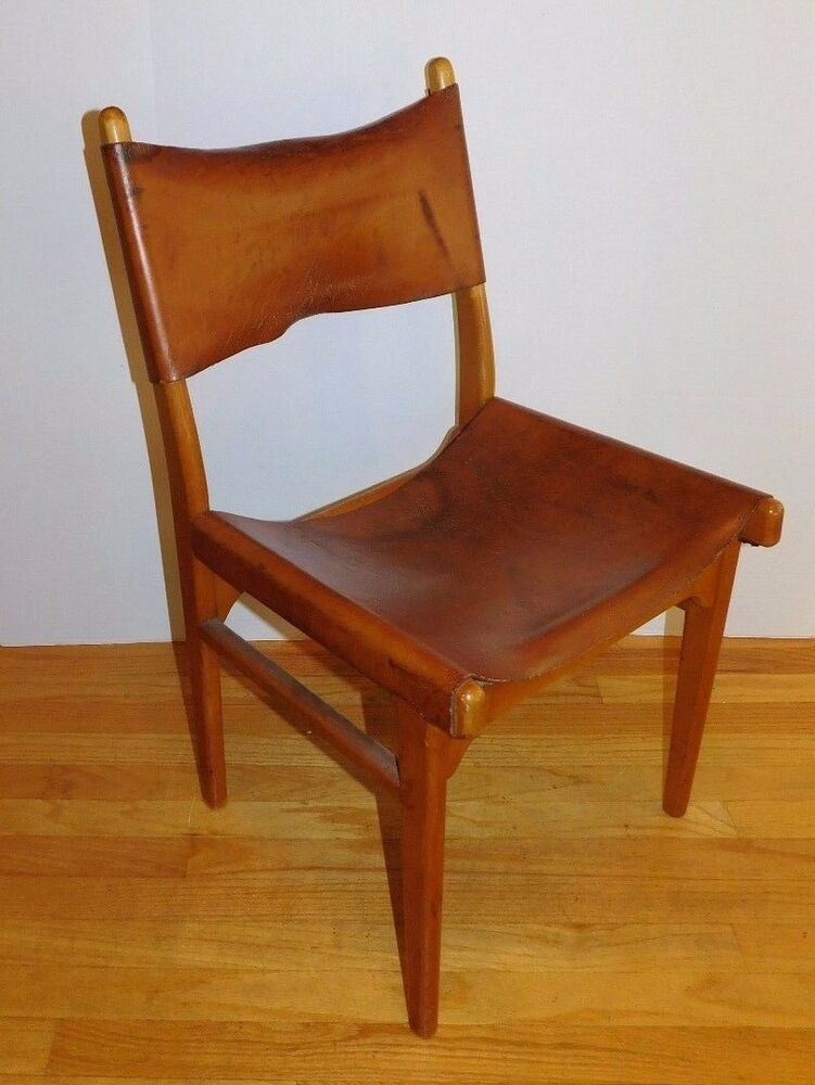 Vtg 1950 S Borg Morgensen Style Leather Chair Finland