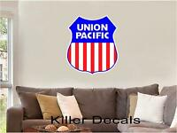 """12"""" UP UNION PACIFIC LINES RAILROAD LOGO DECAL TRAIN STICKER WALL OR WINDOW"""