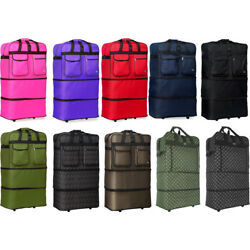 30''/36''/40'' Expandable Rolling Duffel Bag Wheeled Spinner Suitcase Luggage