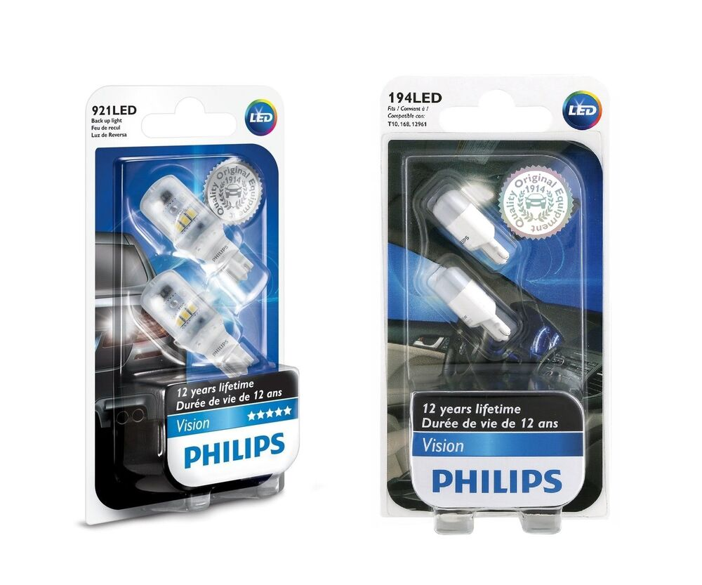 4x philips 194 921 led 6000k super bright xenon white. Black Bedroom Furniture Sets. Home Design Ideas