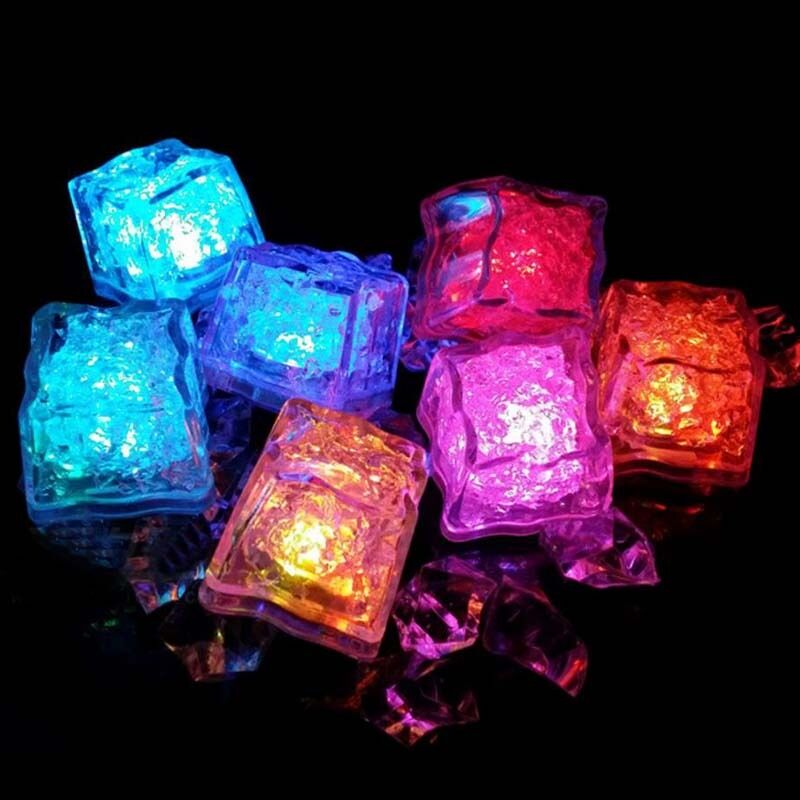 Flashing Ice Cube Neon Party Drink Light Stag Hen Multi