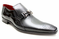 Jeffery West Muse Mens Black Patent Leather Skull Shoes Size UK 6 7 8 9 10 11 12