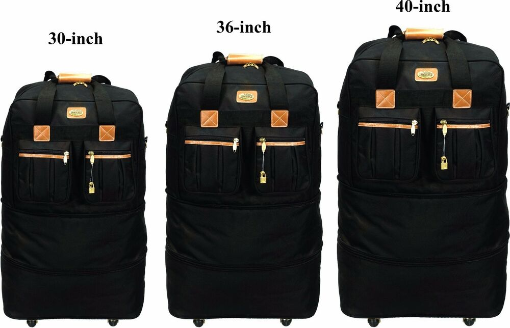 30 Quot 36 Quot 40 Quot Expandable Rolling Wheeled Duffel Bag Spinner